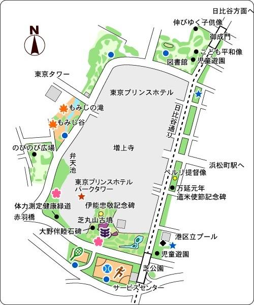 芝公園地圖