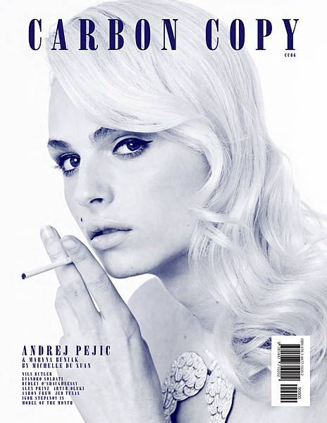 Andrej Pejic for Carbon Copy 6 by Michelle Du Xuan