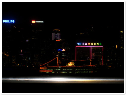 維多利亞港看中環夜景