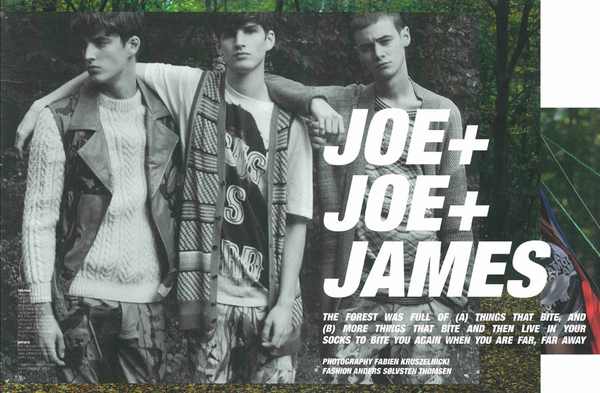Joe+Joe+James by Fabien Kruszelnicki for HERO Magazine #3