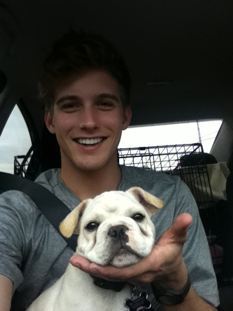 with puppy: RJ King twitter