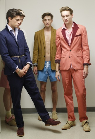 Backstage at Loden Dager Men's RTW Spring 2011