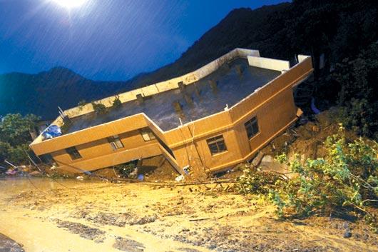 基隆北寧路房屋倒塌