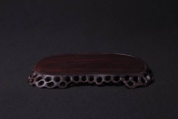 賽州黃檀腰子鏤空矮飾桌1