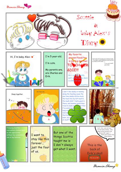 Fanart - Scott&Baby Alex's Diary
