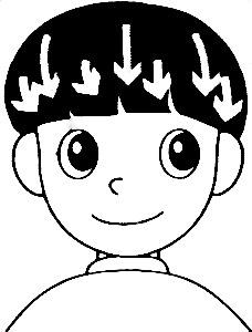 兒童理髮-拉直頭髮
