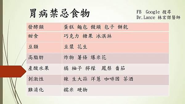 胃病禁忌食物  QA