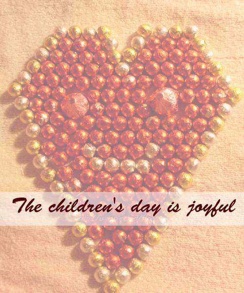 The children's day is joyful