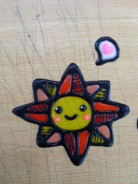 彩繪玻璃貼-小太陽