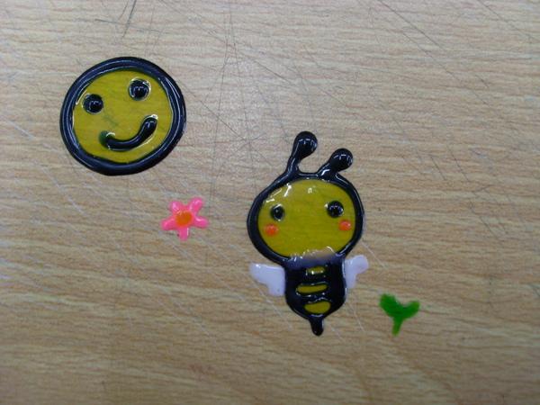彩繪玻璃貼-蜜蜂