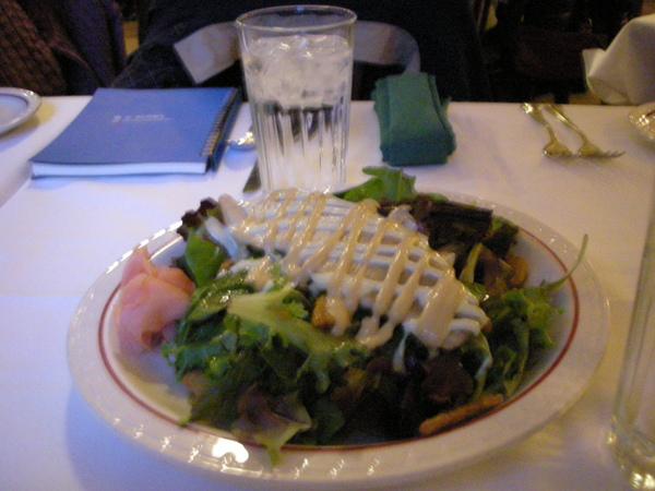 到美國的第一餐,鱒魚沙拉