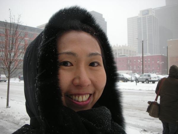 好興奮喔,不畏風雪,我自己走回來飯店。