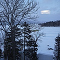 窗外的阿寒湖...結成冰塊