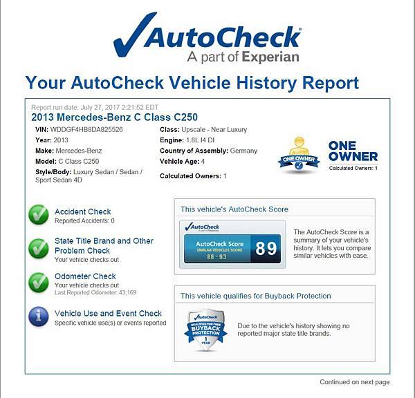 買車皆會附上美國報告書