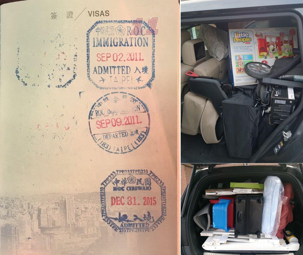 2014 BENZ GL450 裝了整車的行李一起運回台灣,省了不少國際搬家費用