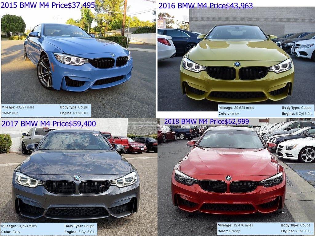 從美國買車可以挑選不同年份、不同里程數、不同顏色的BMW M4外匯車嗎? Car2TW外匯車商推薦近3-5年的BMW M4進口車,代辦回台灣價格要多少呢? 第1台,美國買車的中古行情價格$37495(美金),里程數:34227miles,顏色:藍色,引擎:6 Cyl 3.0 L, 第2台Car2TW代購回台灣的外匯車2016 BMW M4美國中古行情價格$43963(美金),里程數:30624miles,顏色:黃色,引擎:6 Cyl 3.0 L   第3台是2017 BMW M4美國中古行情價格$59400(美金),里程數比第2台代辦2016 BMW M4進口車還要低是13263miles,顏色:灰色,引擎:6 Cyl 3.0 L 第4台2018 BMW M4年份比較新,里程數也更低才12476miles,引擎:6 Cyl 3.0 L,這台代購回台灣的外匯車外觀顏色很少見,是橘色的喔! 不管您是想要找與眾不同顏色的BMW M4還是其它賓士外匯車可以找Car2TW諮詢喔!  想找各年份BMW賓士外匯車都可以從美國買回台灣喔!不過年份太舊的很有可能台灣車測不會通過喔! Car2TW在外匯車商這個行業中協助很多客戶從美國買車運回台灣有十年多的經驗,而且Car2TW在美國也有服務點同時還擁有美國車商執照,有了美國車商執照在美國買車還可以省洲稅哦~  Car2tw也有提供一條龍的服務哦~(從美國買車、美國港口出口、台灣進口、ARTC驗車、監理站領等)美國買車回台灣代購外匯車推薦來Car2tw比較一下喔!