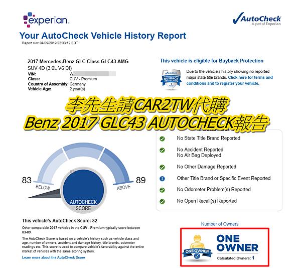 CAR2TW專員在購買車子前,都會查詢美國carfax與autocheck報告達到雙重確認,  通常都要查詢carfax&autocheck兩邊喔!