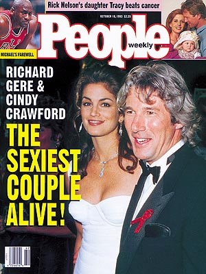 1993Richard Gere and Cindy Crawford