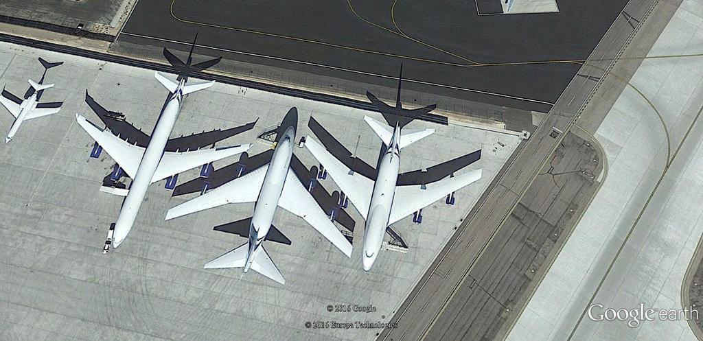 兩架停在拉斯維加斯 McCarran International 的金沙集團 Boeing 747 SP