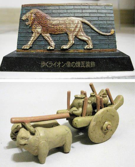 06 步行的獅子  牛車土製模型.jpg