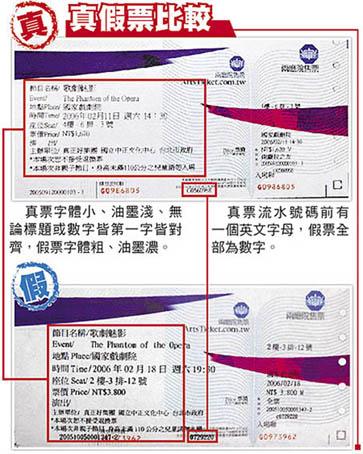 《歌劇魅影》查到216張假票 .jpg