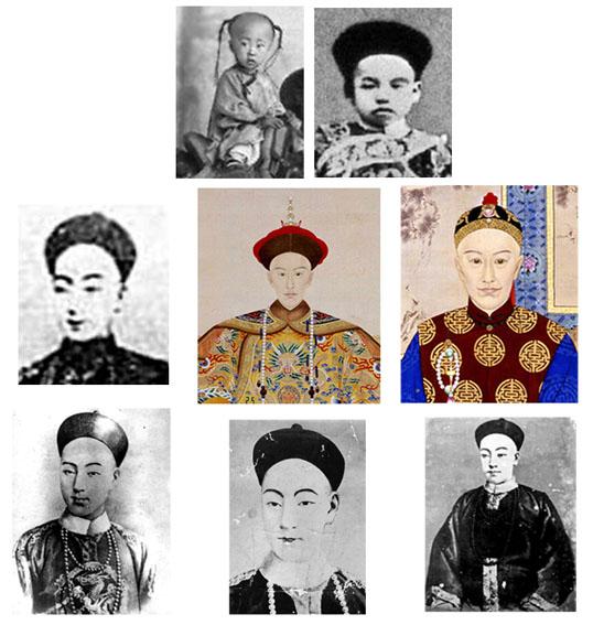 各時期的相片 畫像和明信片裡的光緒帝.jpg