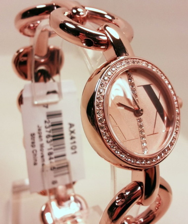 AX玫瑰金手錶.1
