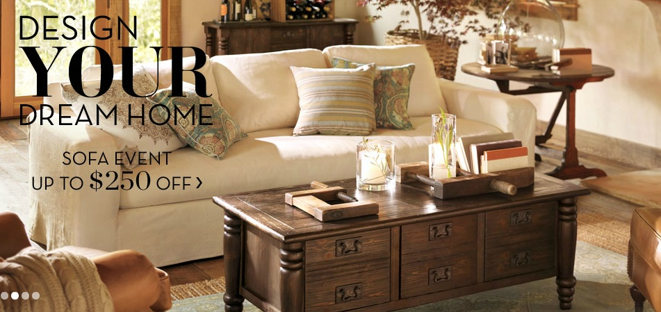 Pottery Barn Sofa Event