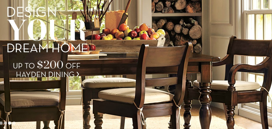 Pottery Barn Hayden Dining Saving