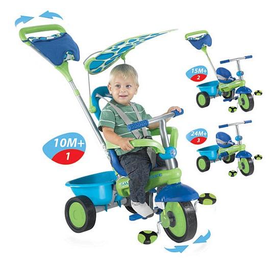 Smart Trike Plus - Green, Blue and Purple