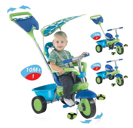 Smart Trike Plus - Green, Blue and Purple