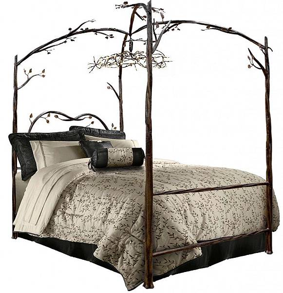 DAILY PICK (2013/3/27) - Stone County Ironworks Enchanted Forest Canopy Bed