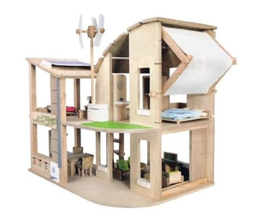 Plan Toy Green Dollhouse