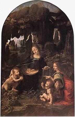 達文西畫作-達文西1496 岩窟聖母.jpg