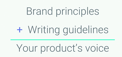 Product voice