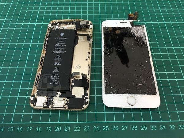 IPHONE6 面板破裂,背蓋變型