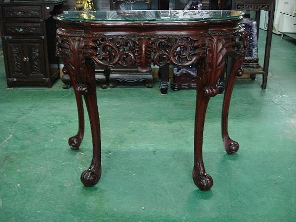 原木玄關桌
