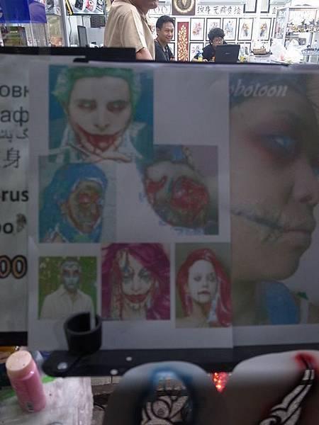 萬聖節pattaya街上化粧的攤子