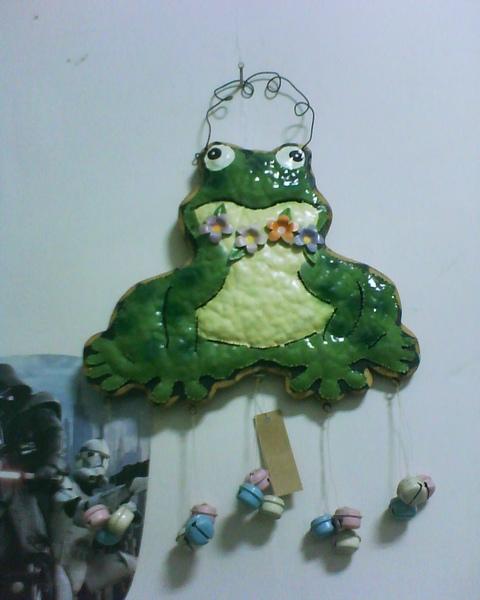 手工掛飾青蛙
