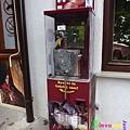 Predjama Castle 13:民宿外,壓製紀念幣的機器
