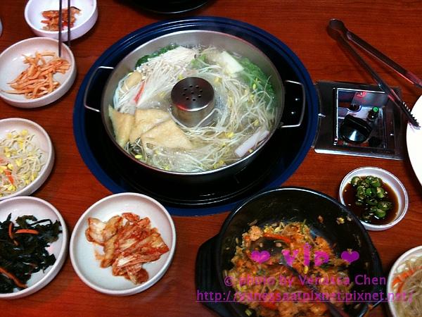 石鍋拌飯+涮涮鍋。