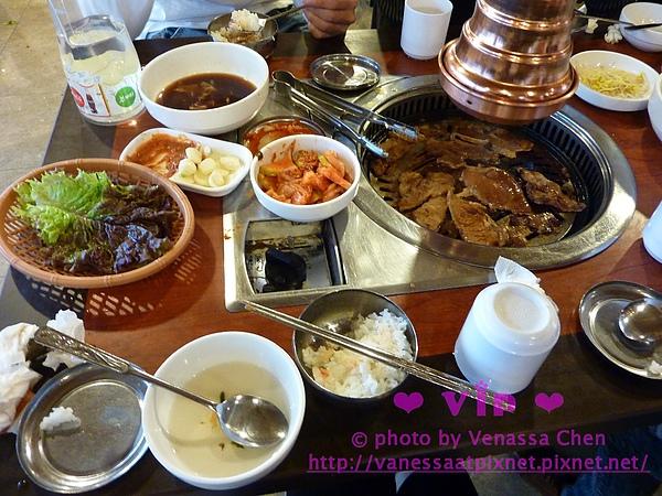 韓式烤肉。