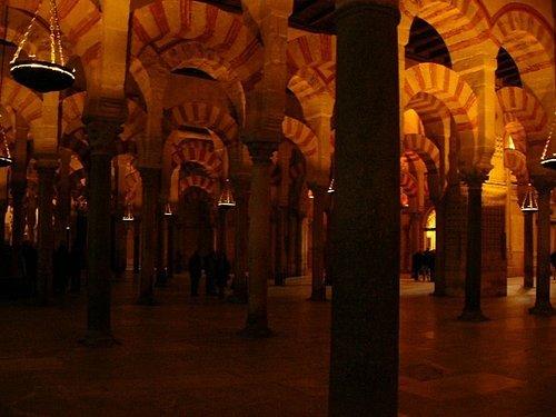 清真寺內部 (柱子是由寶石、花崗岩和大理石組成的)