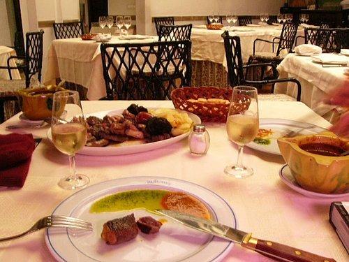Cordoba的餐廳 (點了mixed的肉)