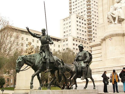 唐吉訶德的銅像