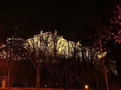 夜晚的西班牙皇宮