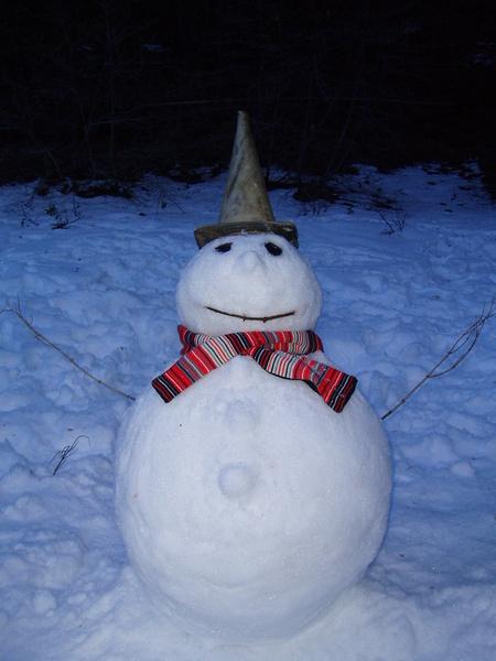 我們合力堆的雪人