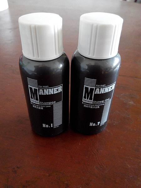 Manner男士清爽洗髮精+沐浴乳