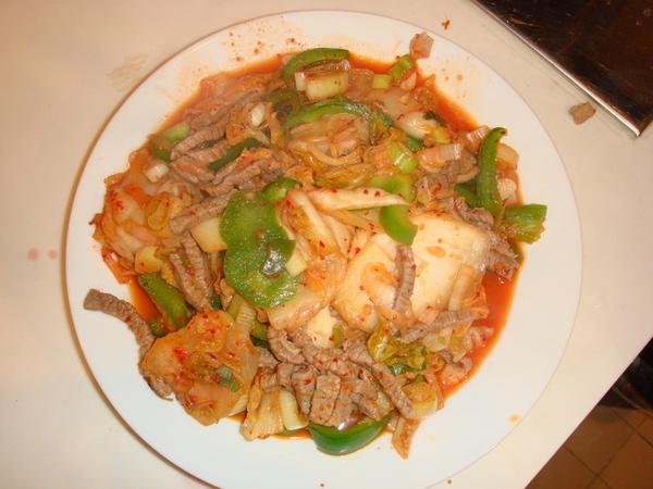 愛了就是韓式泡菜牛柳