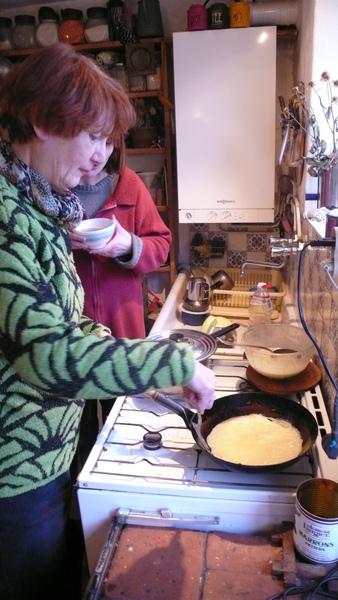 法國畫家作法國煎餅